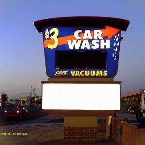 Car Wash Monument Sign