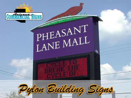 Exterior Pylon Building Signs Phoenix