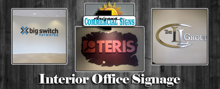 Interior Office Signs Phoenix Arizona - Design, Installation & Service