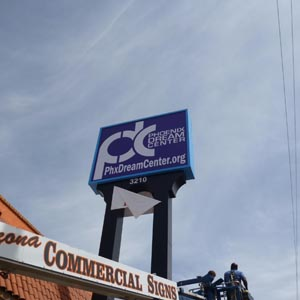 pole sign installation phoenix