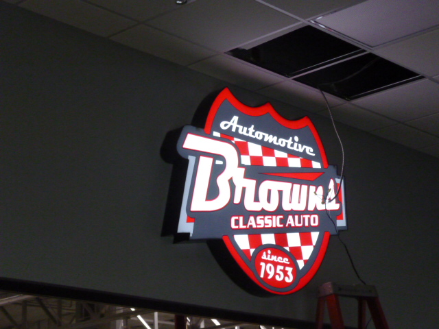 Interior Office Sign Browns Classic Auto
