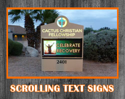LED Scrolling Text Signs
